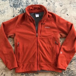 Patagonia full zip fleece jacket medium orange
